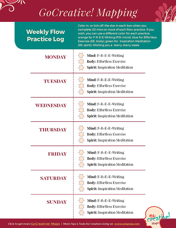 Weekly Flow Practice Log