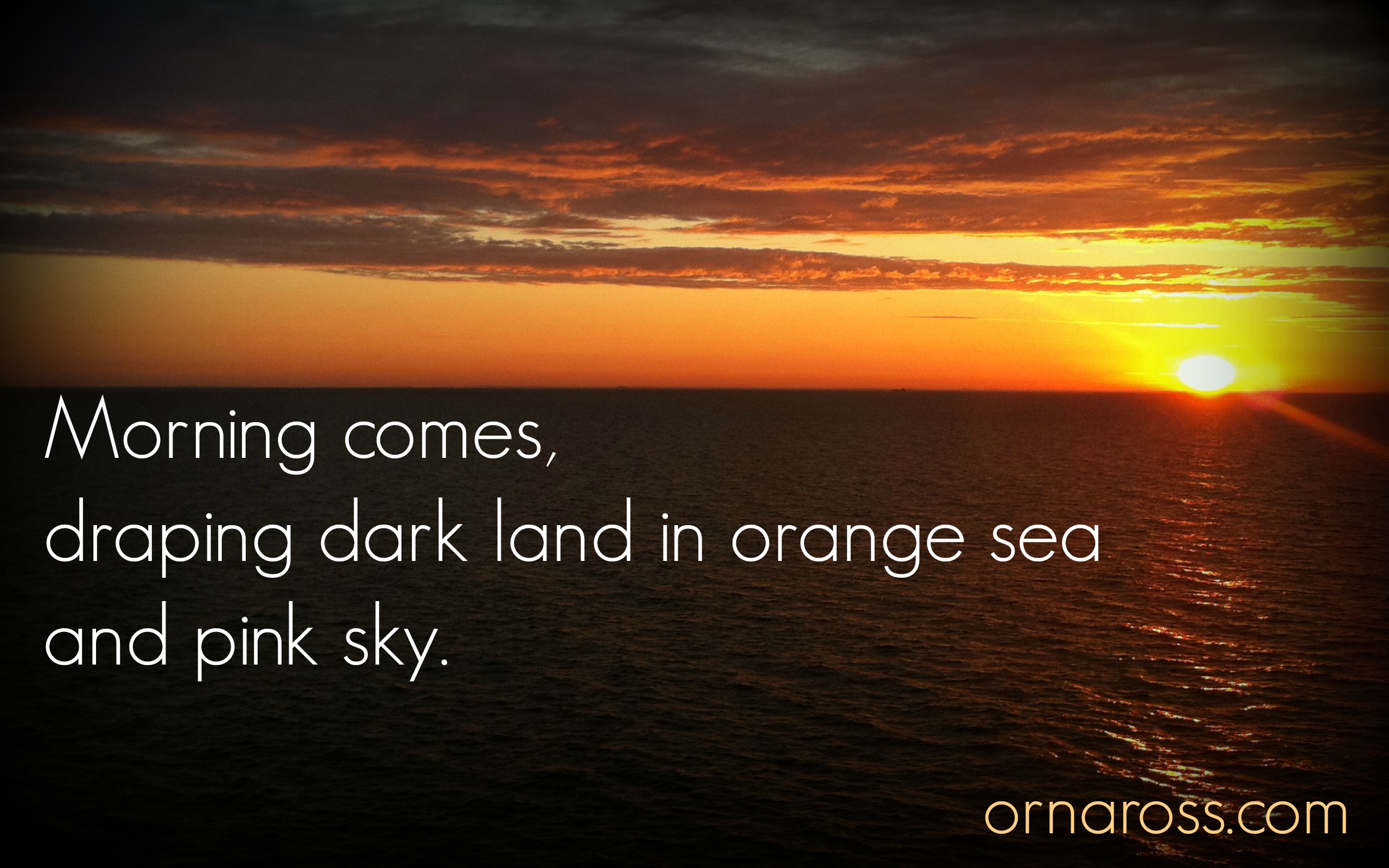Morning comes haiku