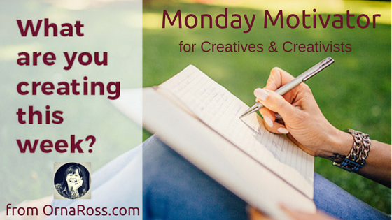 Go Creative! Monday Motivator: Week 3, October 2017: Passion, Preparation, Pace