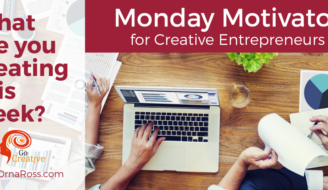 Week 36: The Go Creative! Books Cover Reveal. What Are You Creating in Your Creative Business This Week?