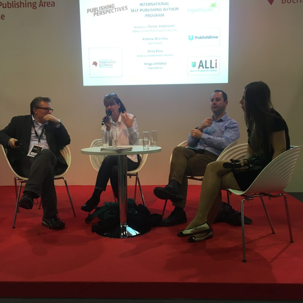 Speaking at Frankfurt Book Fair about creative publishing