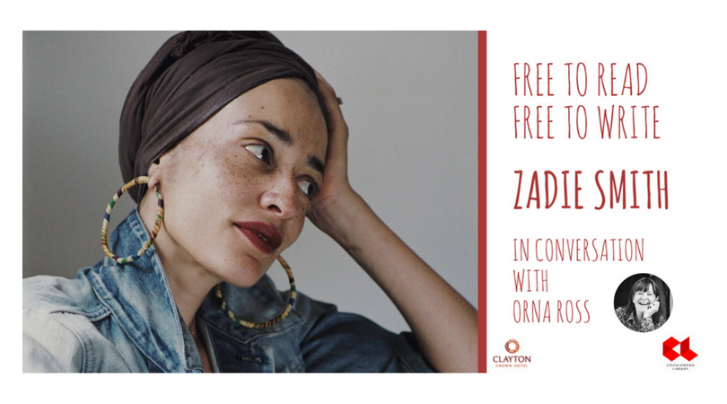 EVENT: Free to Read, Free To Write: Zadie Smith in Conversation With Orna Ross
