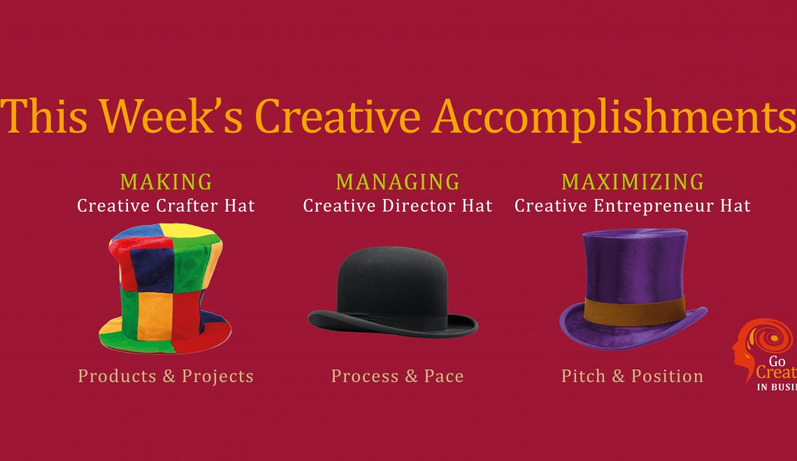 Creative Accomplishments Log Week 26 2019