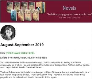 Fiction Newsletter September 2019