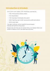 Creative Business Planning Workshop Schedule